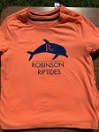 Orange T-Shirt with Blue Robinson Logo